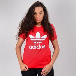 Camiseta Adidas Feminina Trefoil Tee Vermelho ED7493