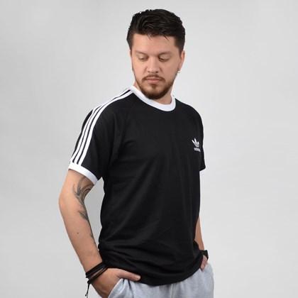 Camiseta Adidas Masculina 3 Stripes Tee Preto CW1202