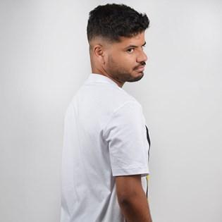 Camiseta Adidas Masculina Filled Label Branco Amarelo ED6937