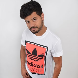 Camiseta Adidas Masculina Filled Label Branco ED6938