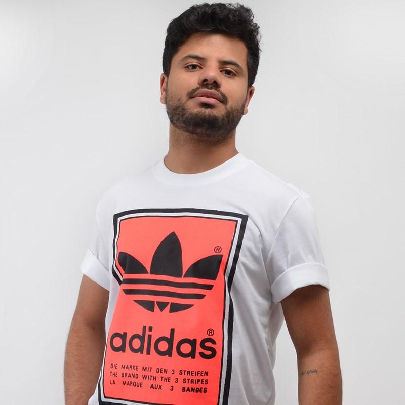 Camiseta Adidas Masculina Filled Label Branco ED6938