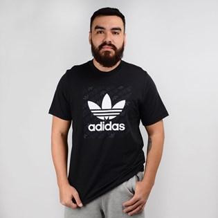 Camiseta Adidas Masculina Mono Square Tee Preto ED7043