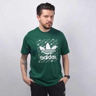 Camiseta Adidas Masculina Mono Square Tee Verde ED7042