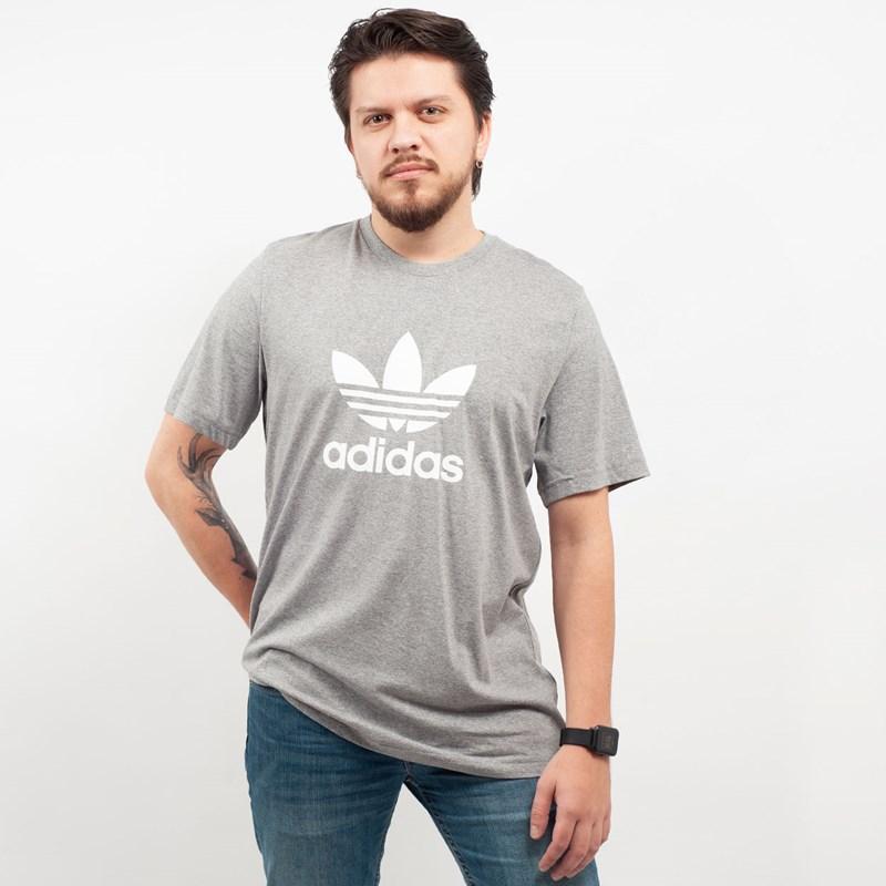 Camiseta Adidas Masculina Trefoil T-Shirt Cinza CY4574