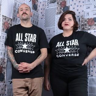 Camiseta Converse All Star SS Tee Black 10018373-A02
