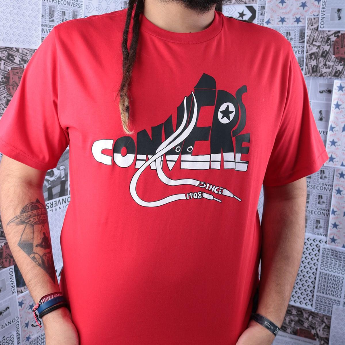 Camiseta Converse Art Tee 3 University Red 10018553-A04