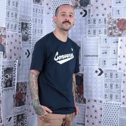 Camiseta Converse Center Front Logo Tee Obsidian 10018235-A08
