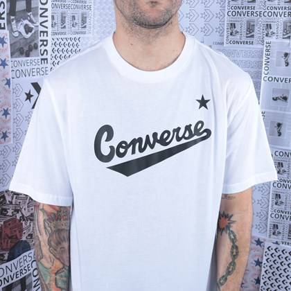 Camiseta Converse Center Front Logo Tee White 10018235-A02