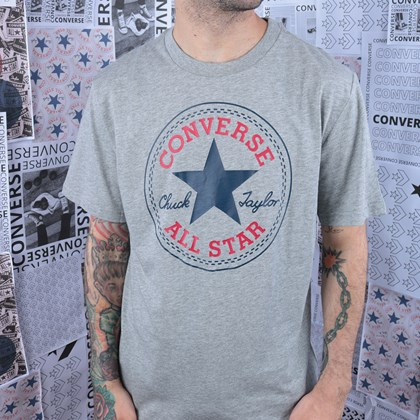 Camiseta Converse Chuck Patch Tee Grey Heather 10007887-A03