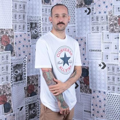 Camiseta Converse Chuck Patch Tee White 10007887-A04