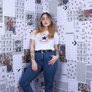 Camiseta Converse Chuck Taylor Patch Nova Tee White 10017759-A04