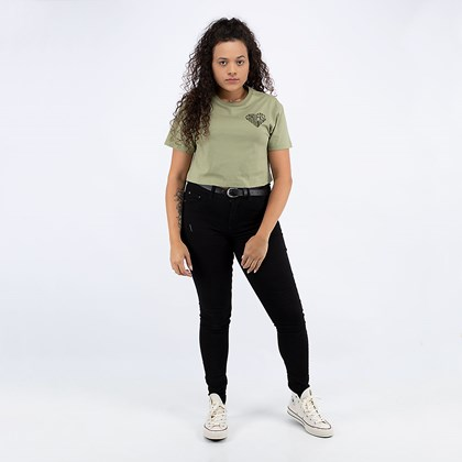 Camiseta Converse Cropped Left Chest Heart Street Sage 10019565-A03