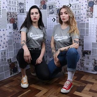 Camiseta Converse Nova Center Front Logo Vintage Grey Heather 10018268-A09