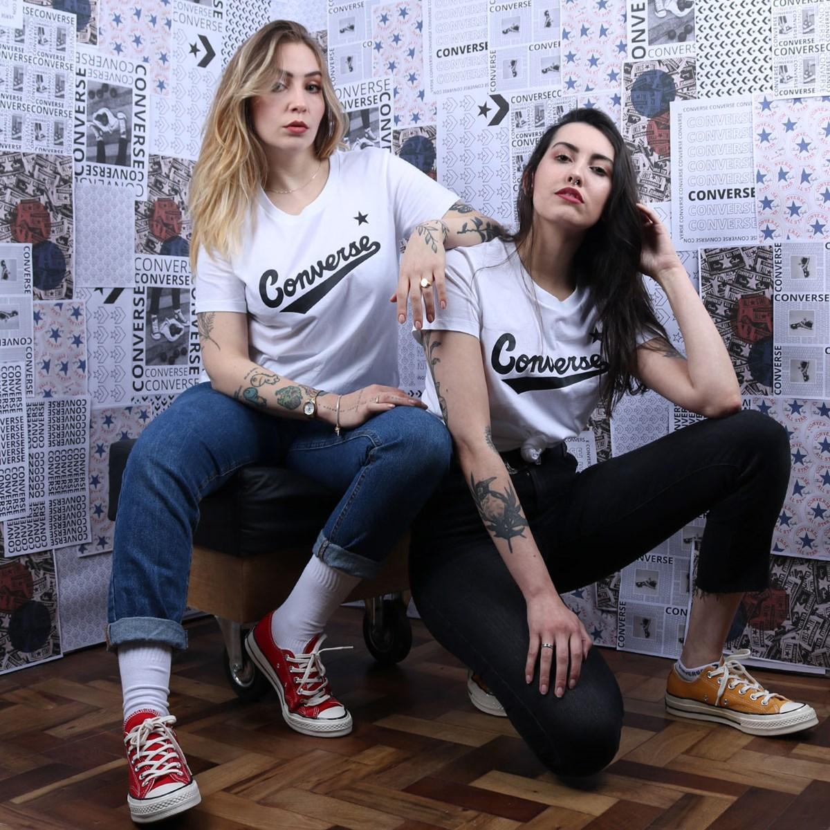 Camiseta Converse Nova Center Front Logo White 10018268-A04