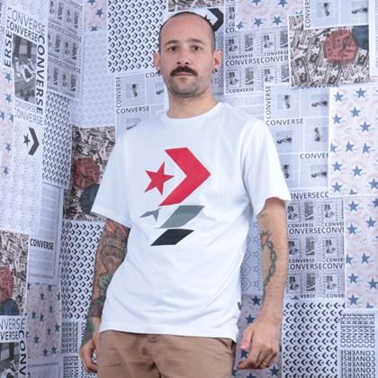 Camiseta Converse Repeated Star Chevron Tee White 10017452-A02