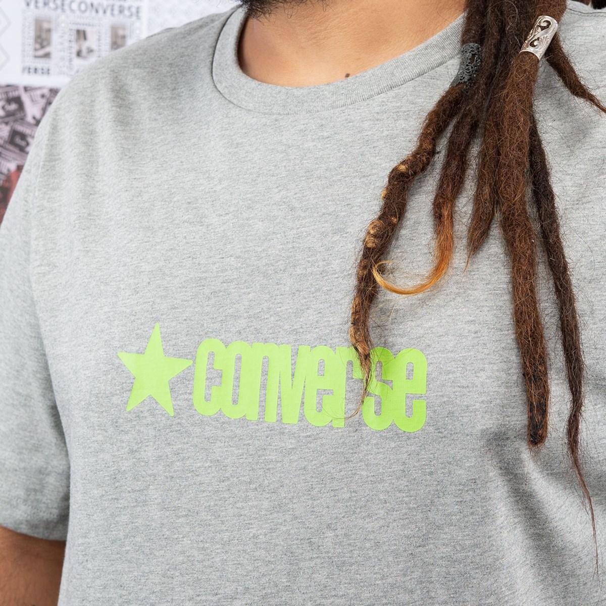 Camiseta Converse Retro Font Workmark SS Gray Vgh 10020528-A03