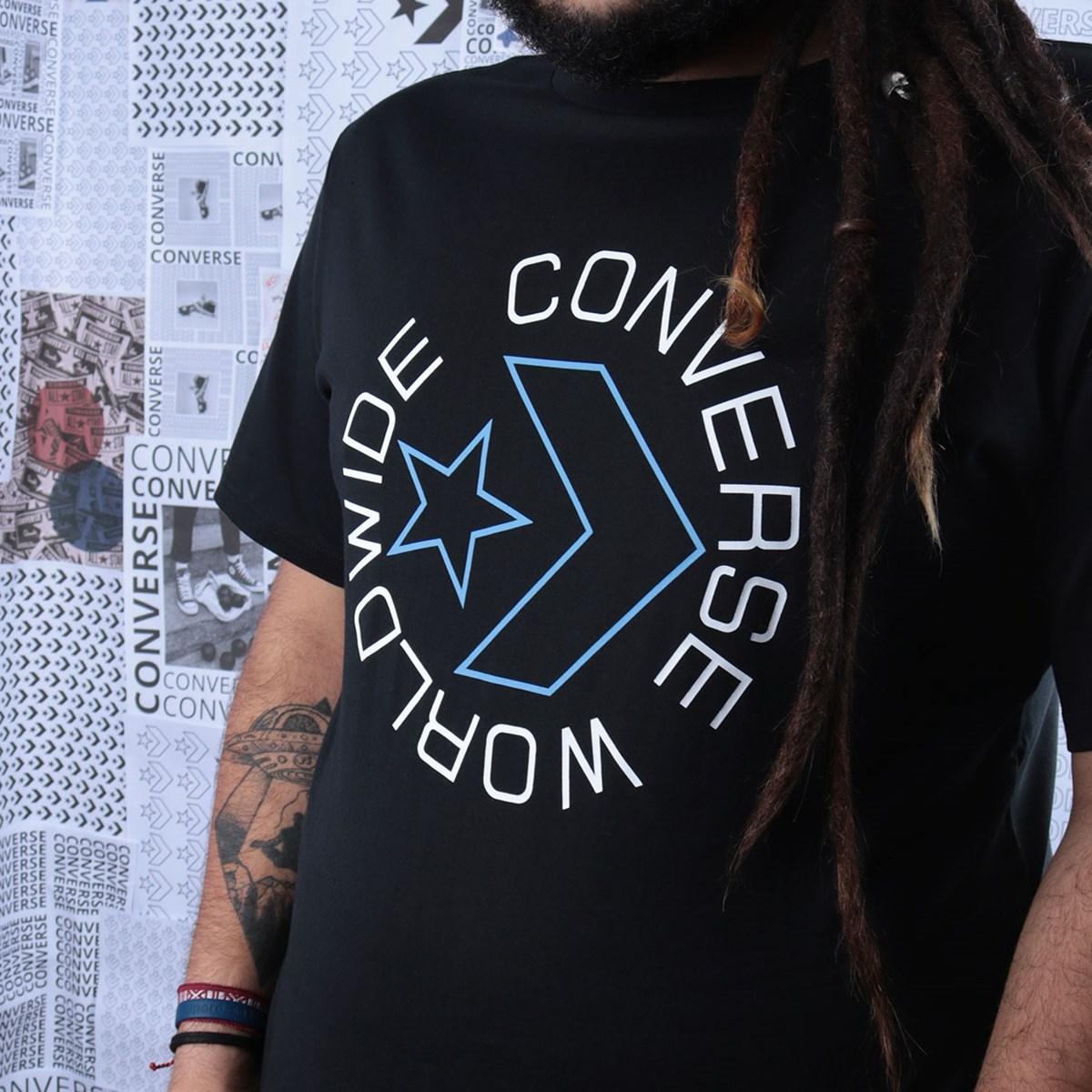 Camiseta Converse Sneaker Table Tee 3 Black 10019075-A01