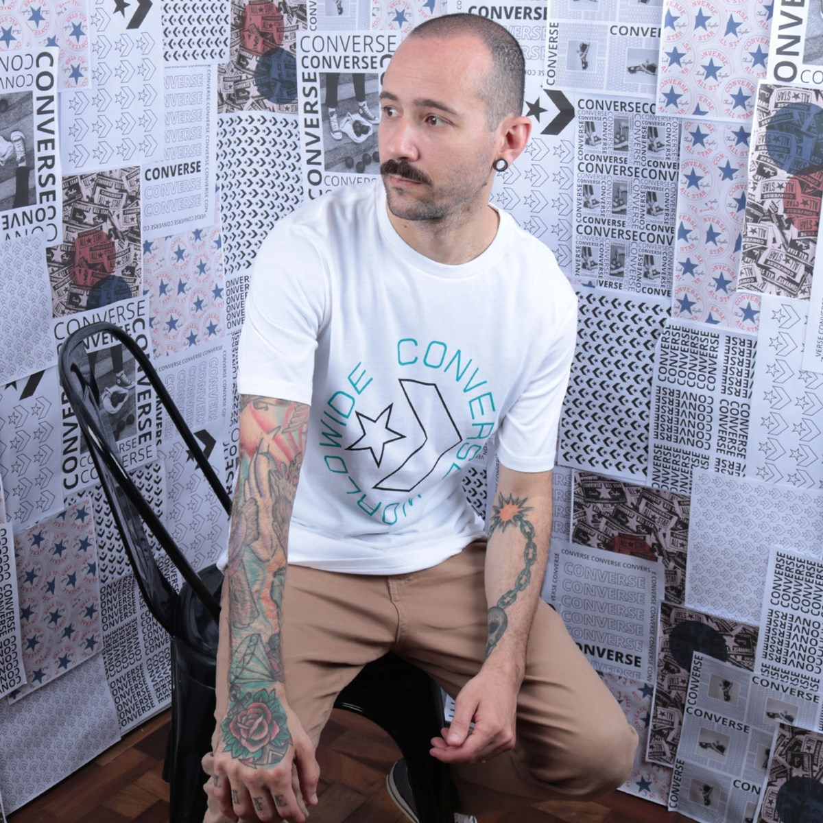 Camiseta Converse Sneaker Table Tee 3 White 10019075-A02