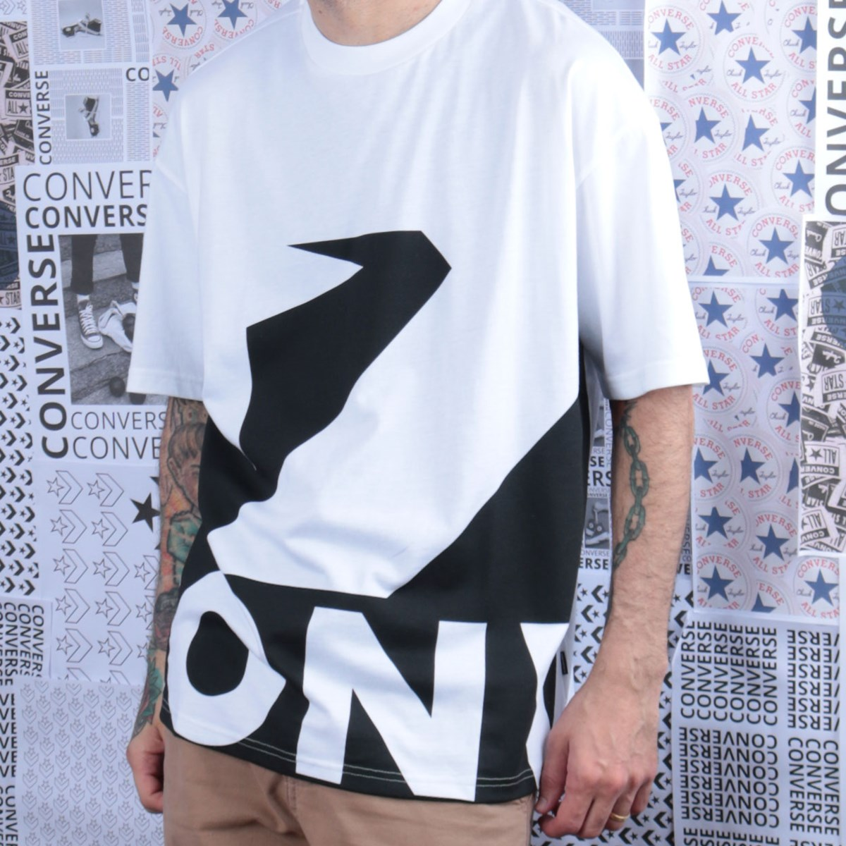 Camiseta Converse Star Chevron Icon Remix White+Black 10018381-A01