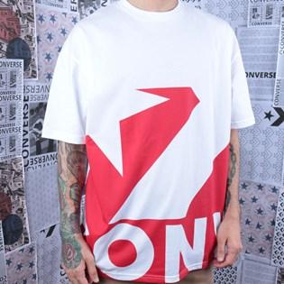 Camiseta Converse Star Chevron Icon Remix White+University Red 10018381-A02