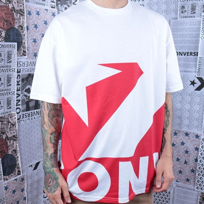 Camiseta Converse Star Chevron Icon Remix White+University Red 10018381-A02