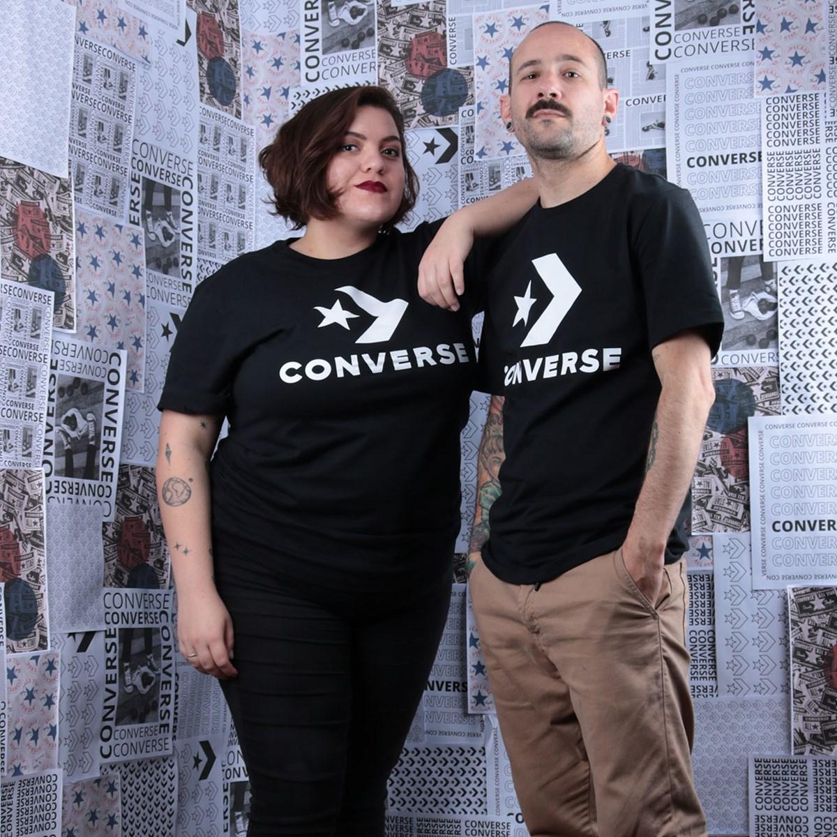 Camiseta Converse Star Chevron Tee Black 10018568-A01