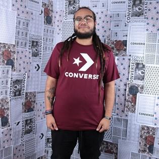 Camiseta Converse Star Chevron Tee Dark Burgundy 10018568-A11