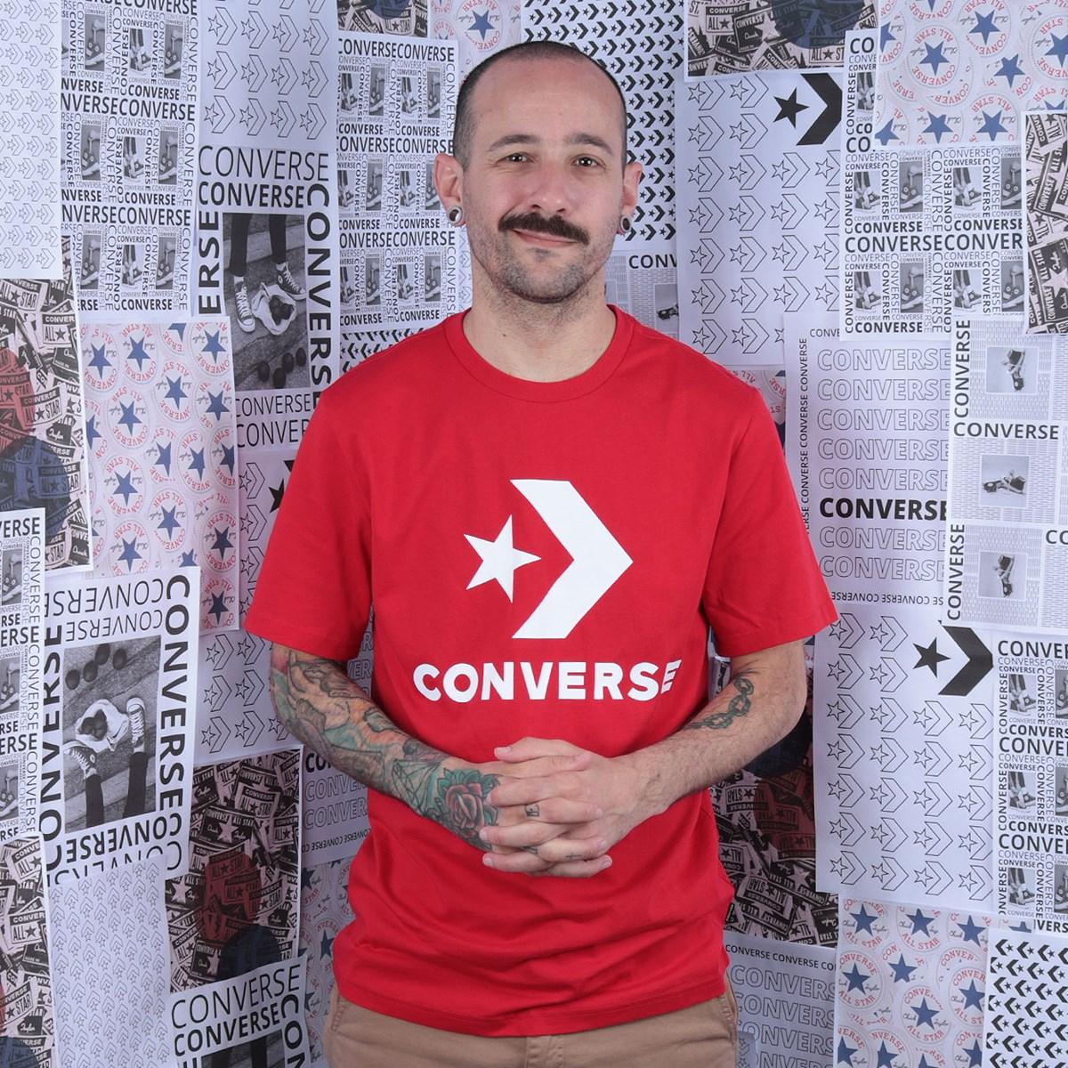 Camiseta Converse Star Chevron Tee University Red 10018568-A09