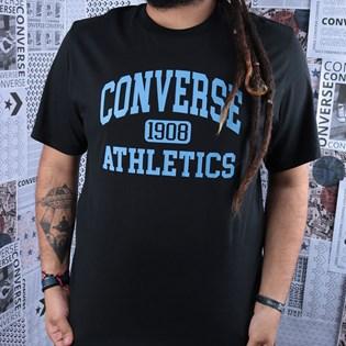 Camiseta Converse Varsity SS Tee Black 10019071-A01