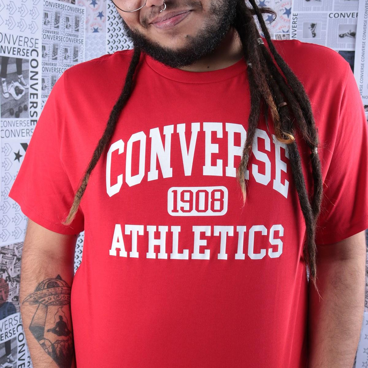 Camiseta Converse Varsity SS Tee University Red 10019071-A03
