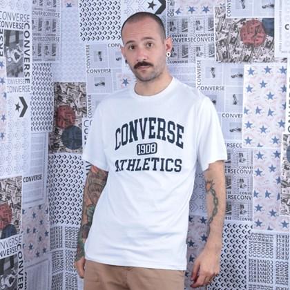 Camiseta Converse Varsity SS Tee White 10019071-A02