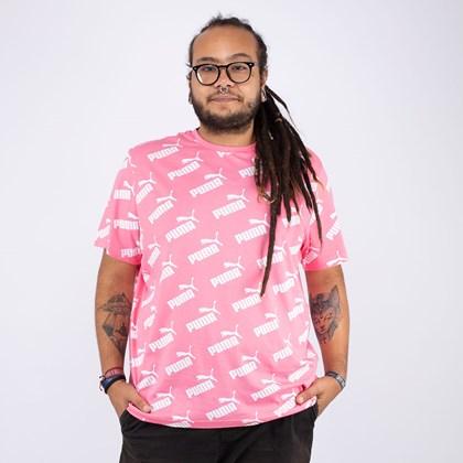 Camiseta Puma Amplified AOP Tee Pink 58142714