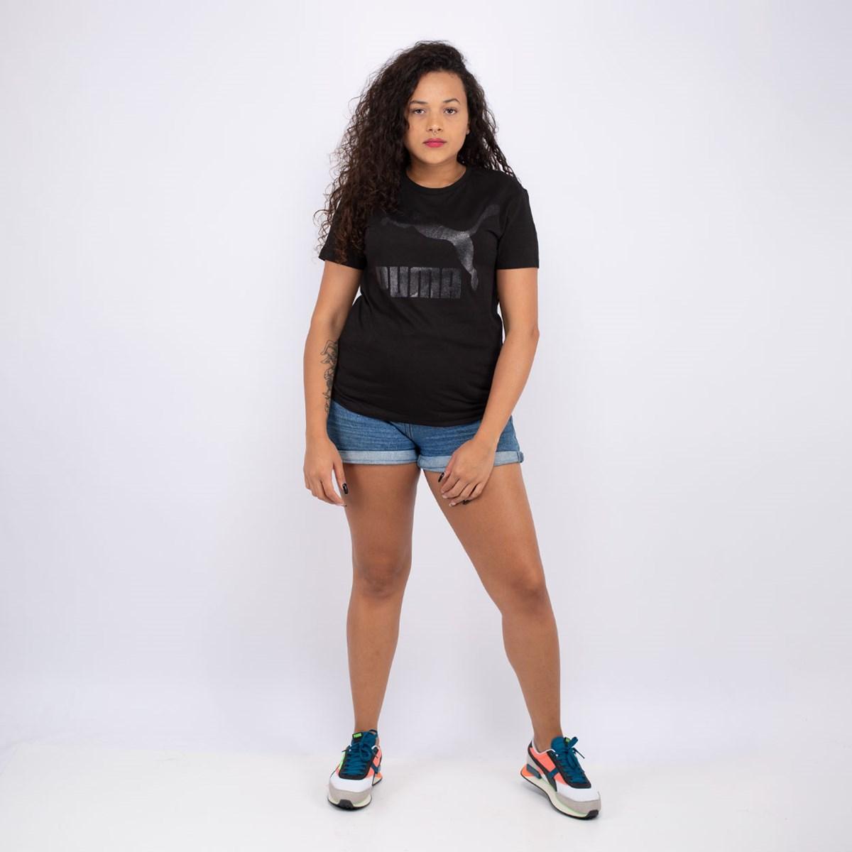 Camiseta Puma Classic Logo Black 597618-51