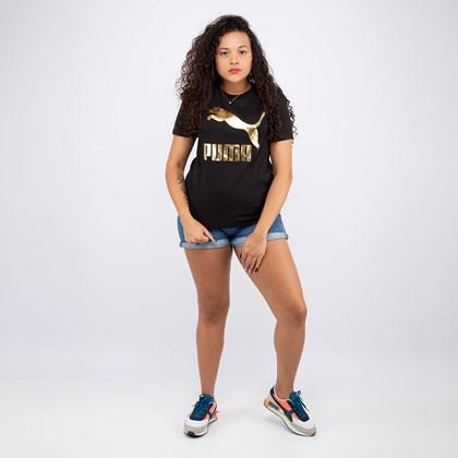 Camiseta Puma Classic Logo Black Gold 597618-61