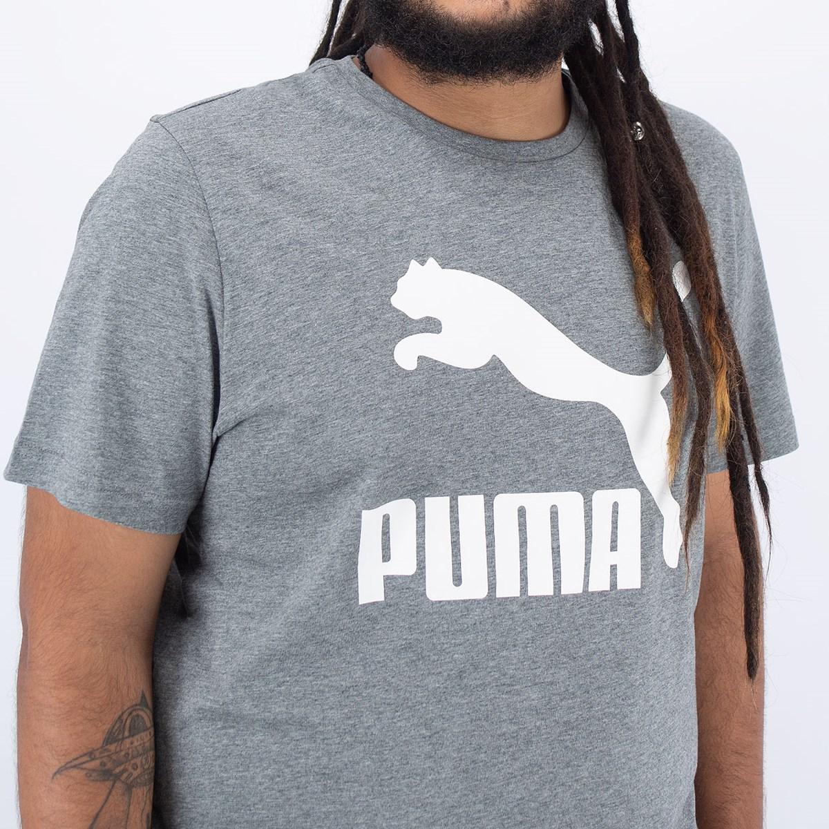 Camiseta Puma Classics Logo Medium Gray Heather 597740-03