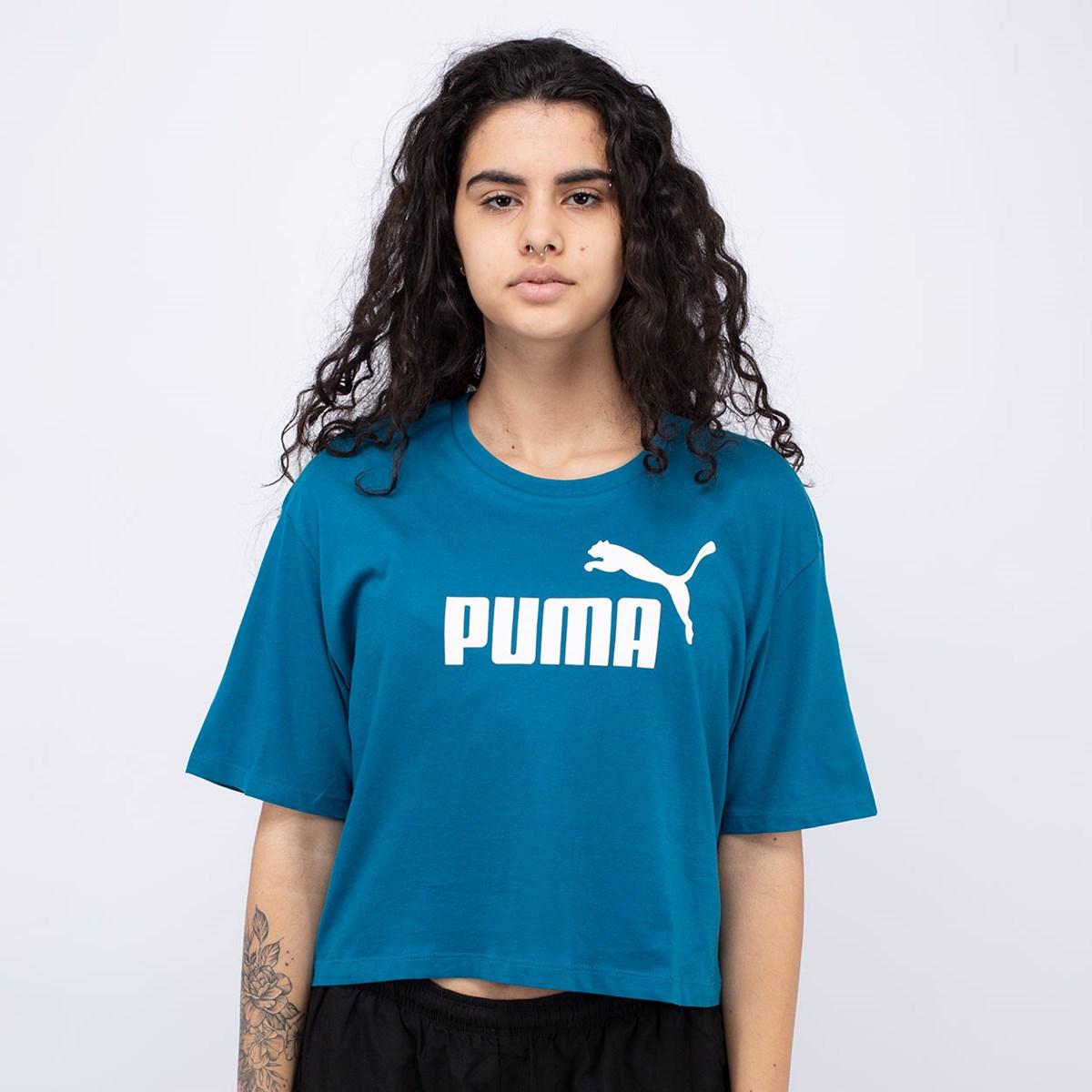 Camiseta Puma Cropped Essentials+ Digitalblue 852594-36