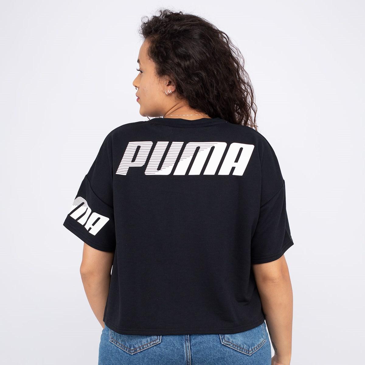 Camiseta Puma Cropped Modern Sport Sweat Tee Black 58039101