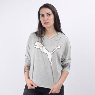 Camiseta Puma Feminina Capuz Modern Sports Cover Up Light Gray Heather 58123304