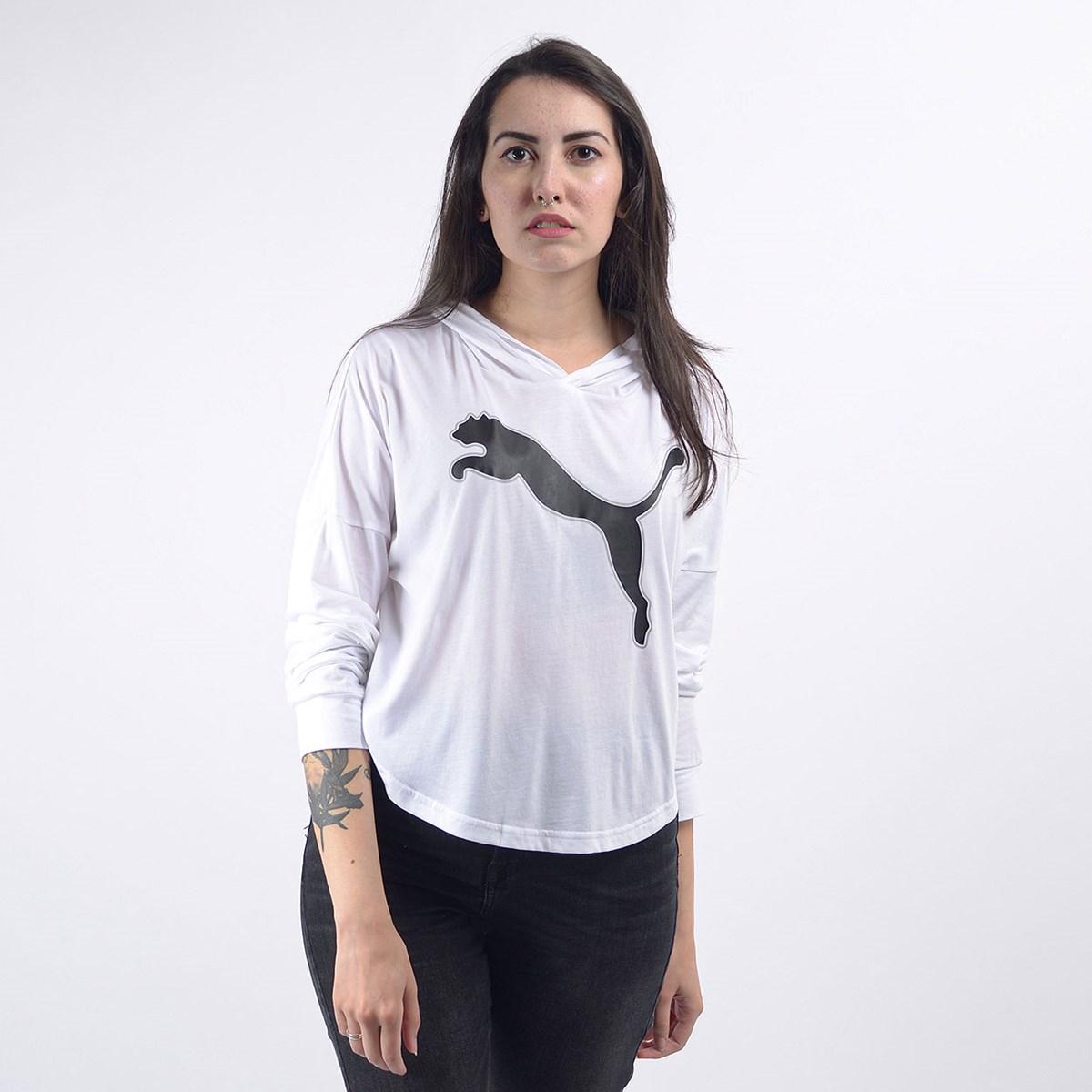 Camiseta Puma Feminina Capuz Modern Sports Cover Up White 58123302