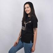 Camiseta Puma Feminina Classic Logo Tee Preto Bronze 57624256