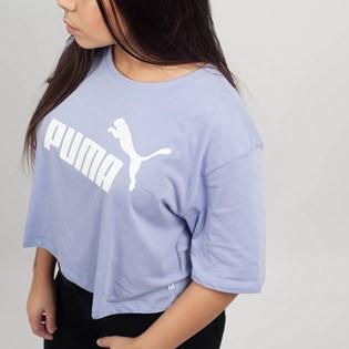 Camiseta Puma Feminina Cropped ESS Logo Tee Lavanda 85259424