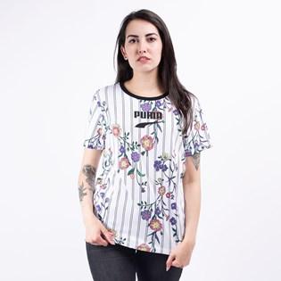 Camiseta Puma Feminina Downtown AOP Tee White 59671902