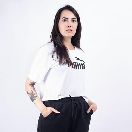 Camiseta Puma Feminina Essentials+ Cropped Tee White 85259402