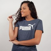 Camiseta Puma Feminina Essentials Heather Tee Marinho 85212706