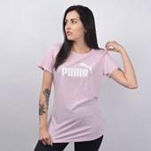 Camiseta Puma Feminina Essentials+ Heather Tee Rosa 85212746
