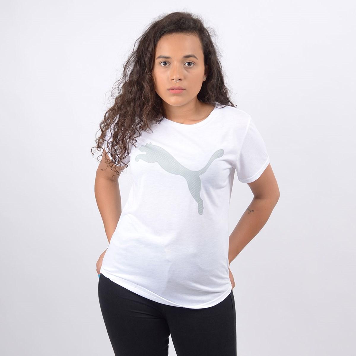 Camiseta Puma Feminina Evostripe Tee White 58124102