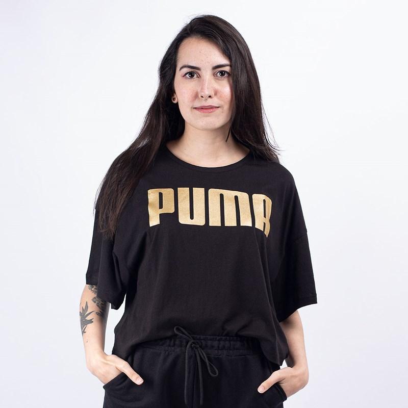 Camiseta Puma Feminina Rebel Fashion Tee Black Gold 58130851