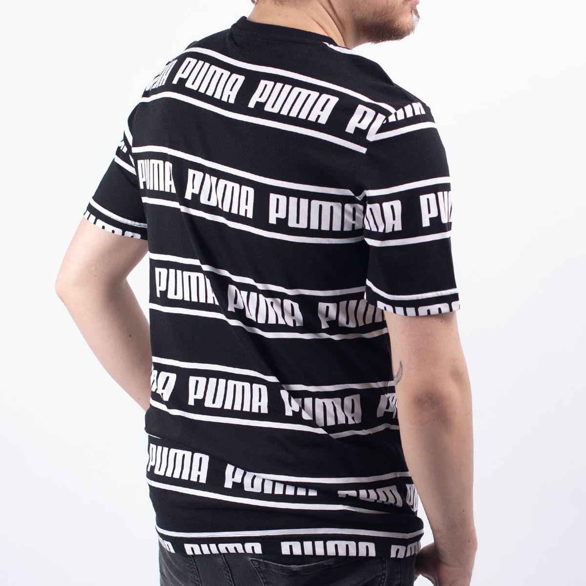 Camiseta Puma Masculina Amplified Tee Black 58042701