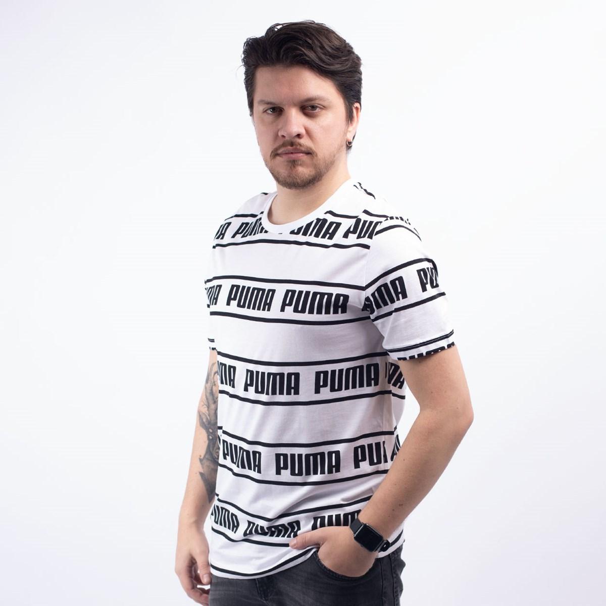 Camiseta Puma Masculina Amplified Tee White 58042702
