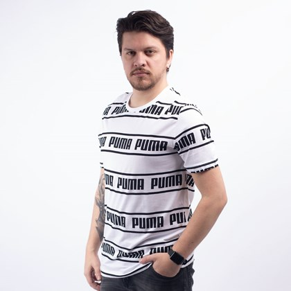 Camiseta Puma Masculina Amplified Tee White 58042702